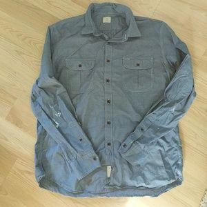 J.Crew mens blue l/sleeve button down shirt